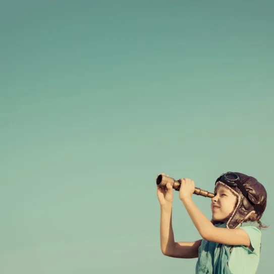 child with telescope 2